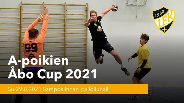A-poikien Åbo Cup 29.8.2021 starttaa A-poikien käsipallokauden 2021-2022