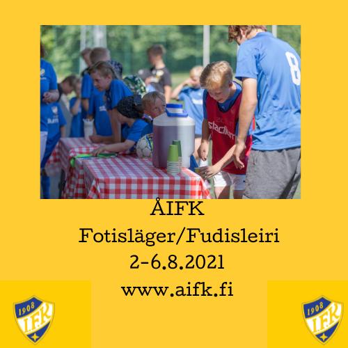 Fotbollsläger/Jalkapalloleiri 2-6.8.2021