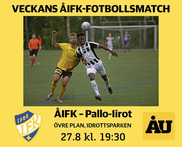 Perjantaina Pallo-Iirot ÅIFK:n miesten vieraiksi