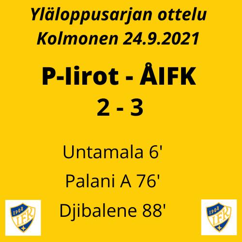 ÅIFK voittoon Iiroja vastaan 2-3