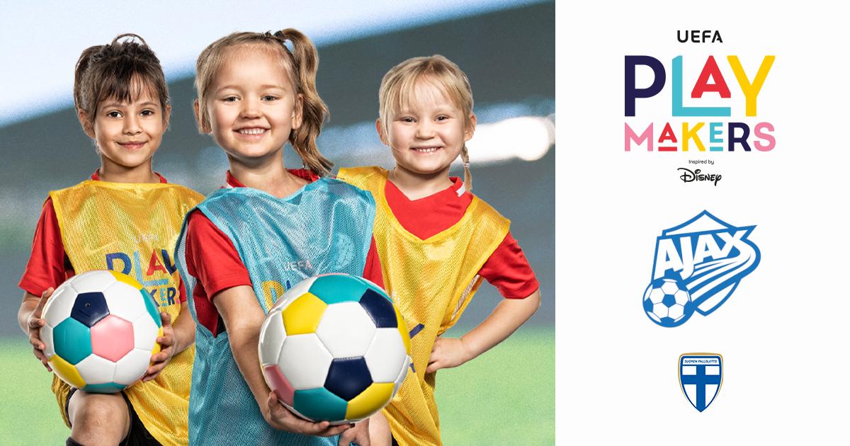 Ajax-Sarkkiranta yhdessä UEFAn ja Disneyn kanssa kannustamaan tyttöjä jalkapallon pariin!
