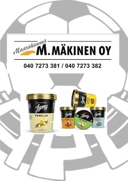 Maarakennus M.Mäkinen ja Jymy jäätelö jatkavat seuran tukemista