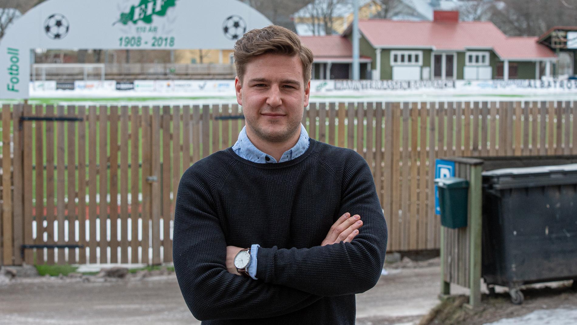 Simon Eklund fortsätter som fotbollssektionens ordförande