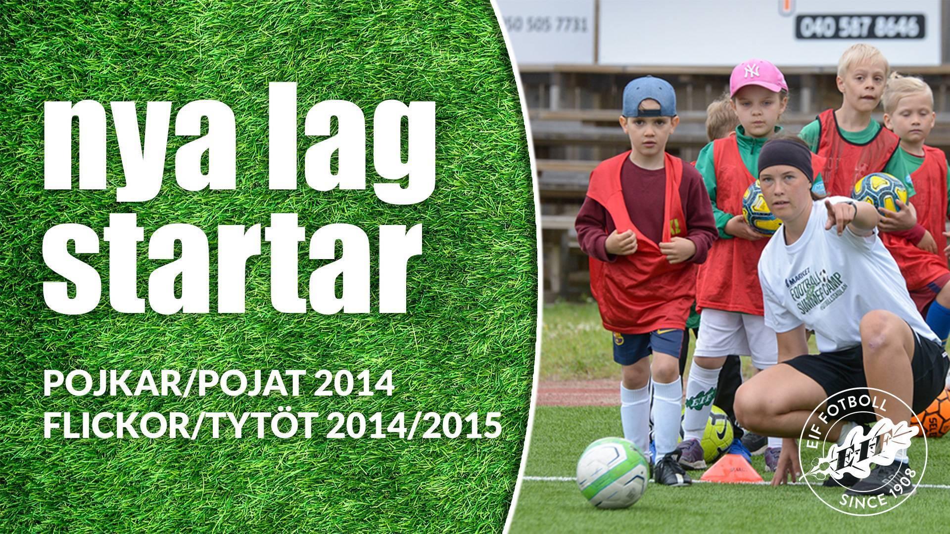 Kick off för flickor 14/15 och pojkar 14 – Uudet joukkueet tytöt 14/15 ja pojat 14 käynnistyvät