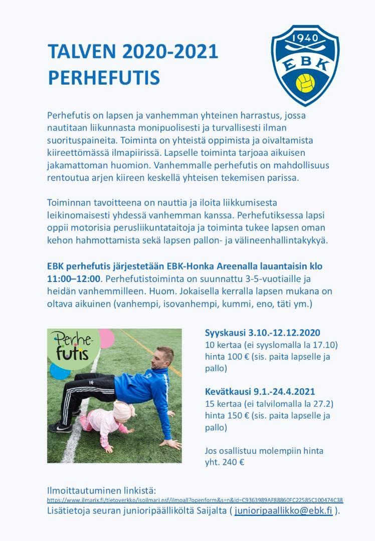 EBK Perhefutis 3-5 vuotiaille alkaa 3.10.2020