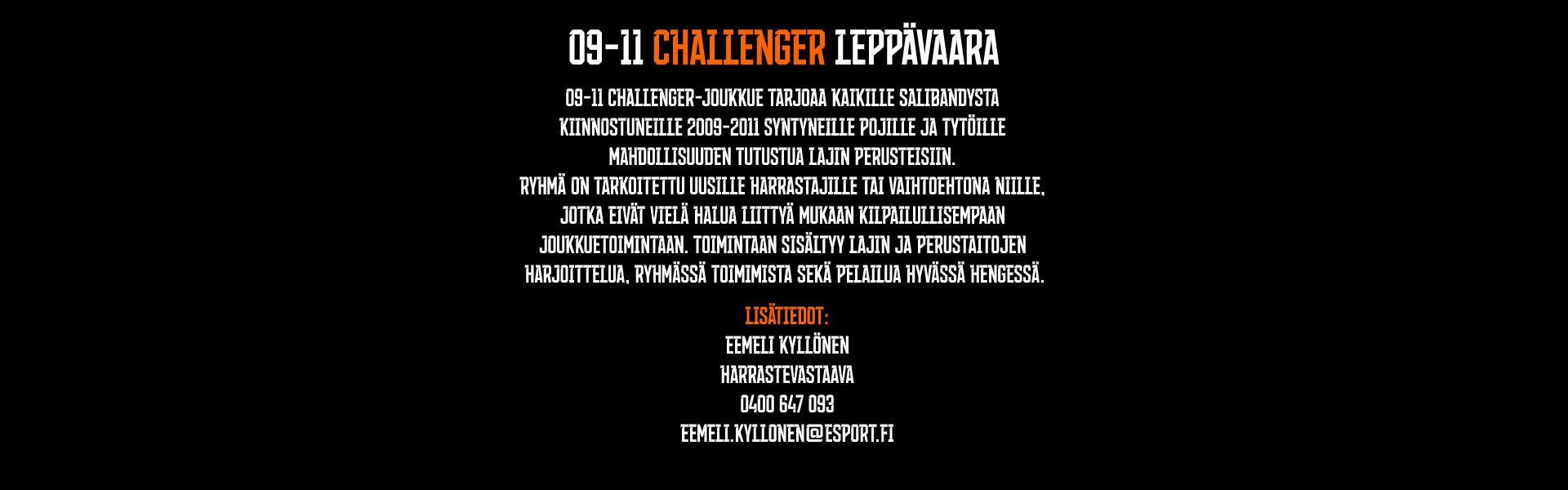 09-11 CHALLENGER LEPPÄVAARA