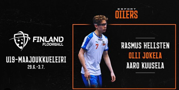Suomen U19-maajoukkueleirille on valittu kolme Oilers NGAB -pelaajaa