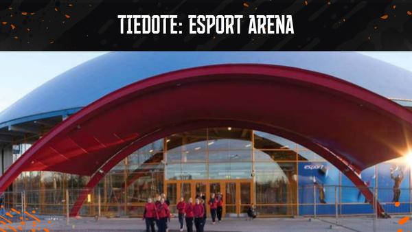 Esport Arenan kuplahalli tyhjennetty