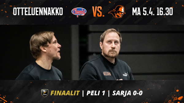 Finaalien ensimmäinen ottelu pelataan Tampereella maanantaina!