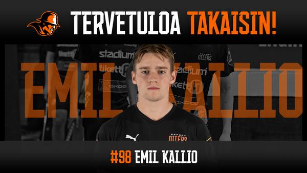 Emil Kallio palaa Tiikereistä Oilersiin!
