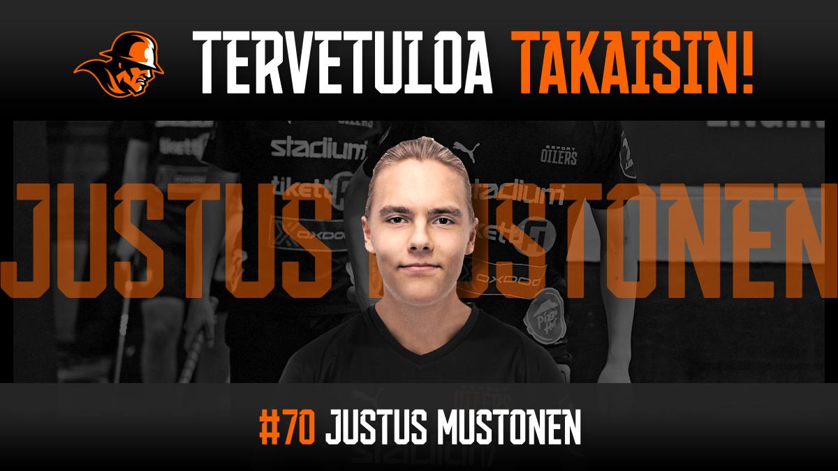 Justus Mustonen palaa Kirkkonummelta Oilersiin!