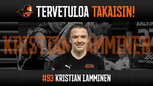 Oilers-kasvatti Kristian Lamminen palaa Öljypaitaan!