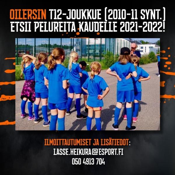 Tervetuloa Oilers T12 tyttöjen kotisivuille !