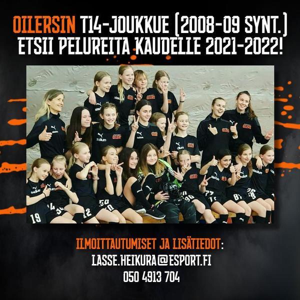 Tervetuloa Oilers T14 / T12M tyttöjen kotisivuille !