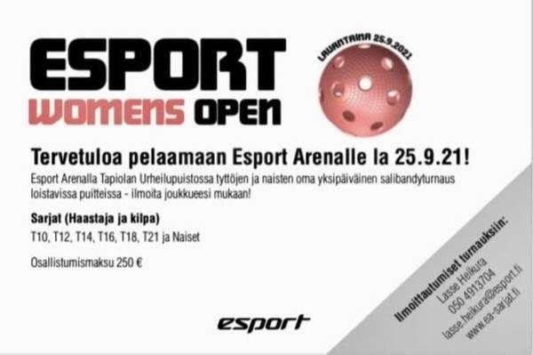ESPORT WOMENS OPEN 25.9.2021