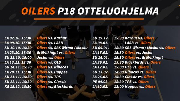 Oilersin P18-joukkue valmiina kauteen 2021-2022!
