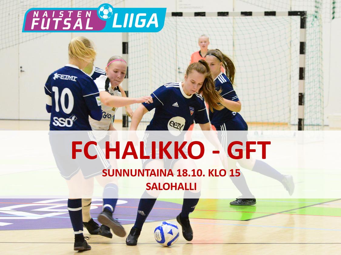 Naisten eka Futsal-Liigan kotipeli 18.10. Salohallissa
