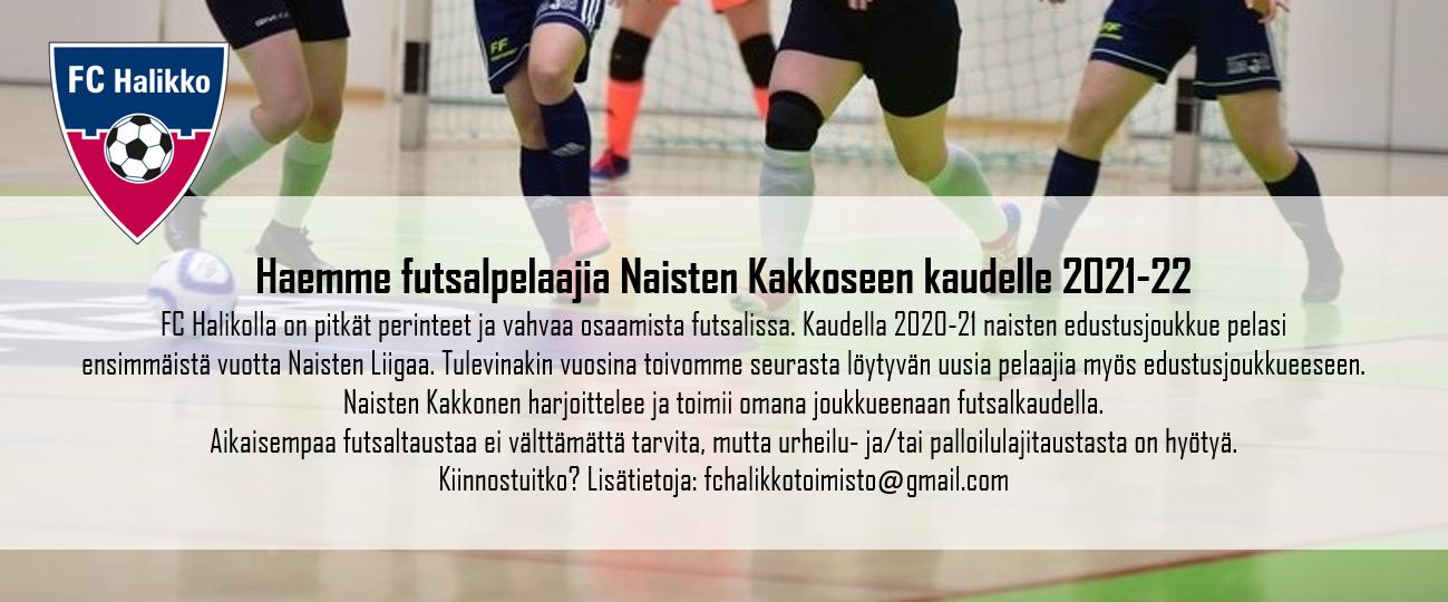 Naisten Futsal Kakkonen hakee pelaajia kaudelle 2021-22