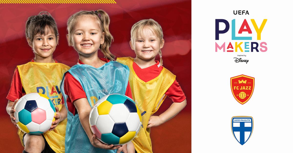 FC Jazz yhdessä UEFAn ja Disneyn kanssa kannustamaan tyttöjä jalkapallon pariin