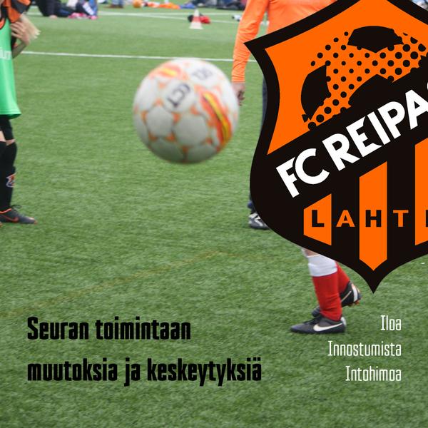 FC Reipas jatkaa harjoittelua poikkeusjärjestelyin
