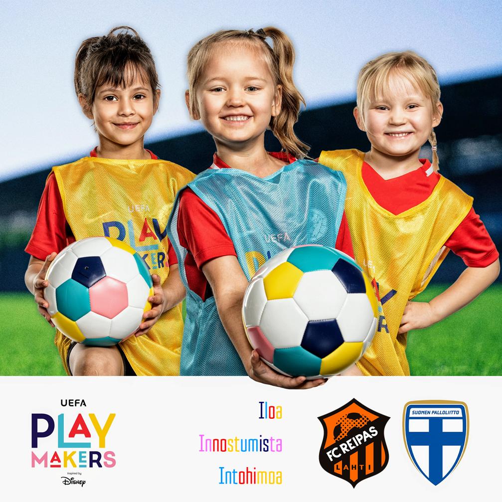 FC Reipas, UEFA ja Disney kannustavat tyttöjä jalkapallon pariin