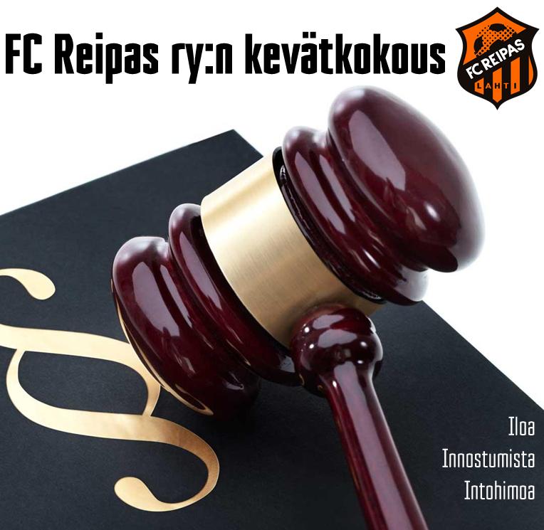 KUTSU: FC Reipas ry:n sääntömääräinen kevätkokous