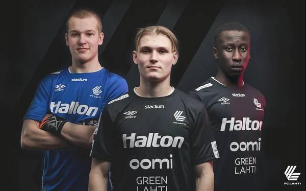 Kolme junioria FC Lahden edustusjoukkueeseen