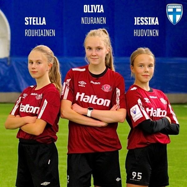 FC Lahden tyttö-trio aluejoukkueeseen