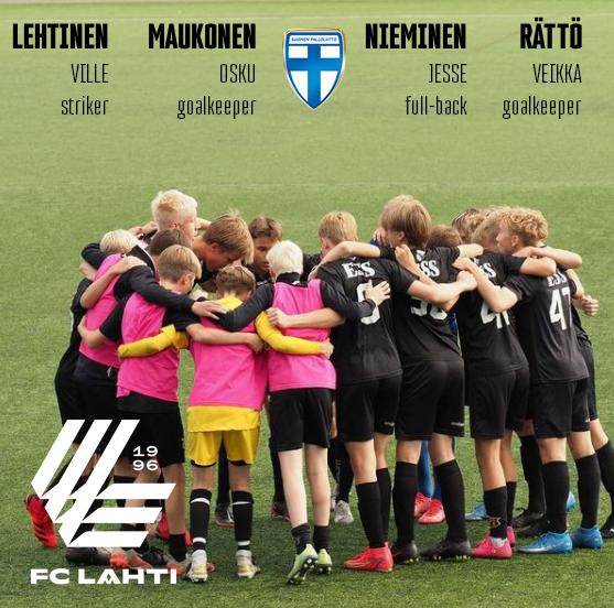 FC Lahden kvartetti aluejoukkueleirille
