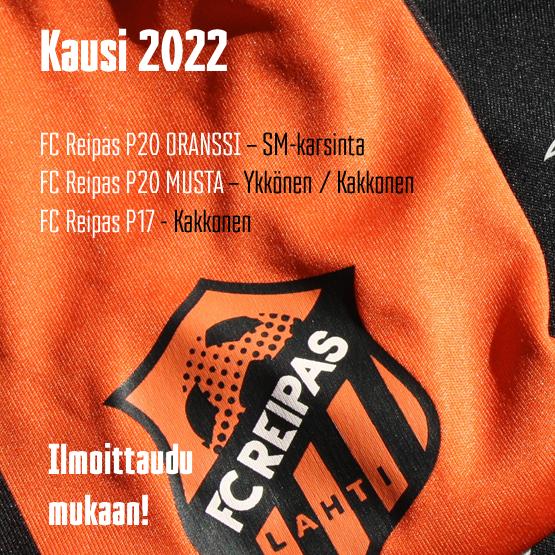 FC Reipas P20- ja P17-joukkueet kaudelle 2022
