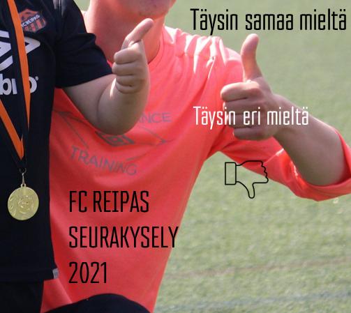 FC Reipas seurakysely 2021 - pelaajien huoltajille