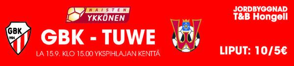 GBK - TUWE lauantaina 15.9.2018 klo 15:00