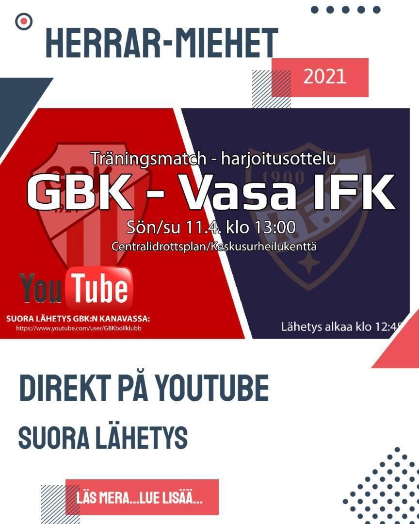 GBK-VIFK striimataan/streamas