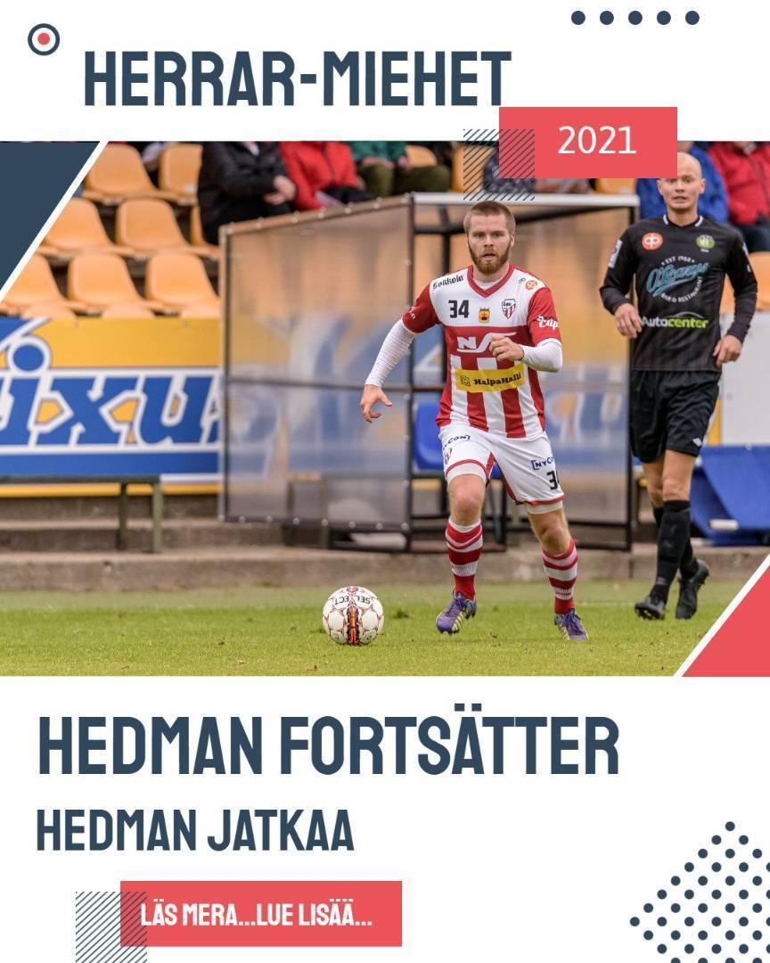 Hedman fortsätter i GBK/jatkaa GBK:ssa