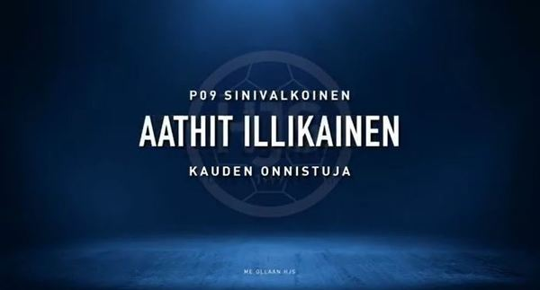 P09 Sinivalkoinen kauden 2020 onnistuja - onnea Aathit!