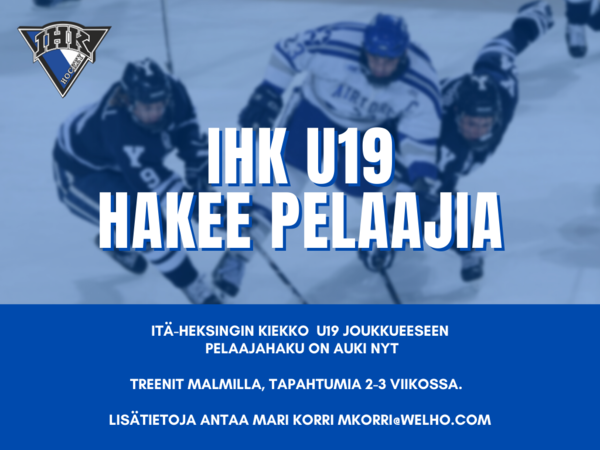 IHK U19 hakee pelaajia