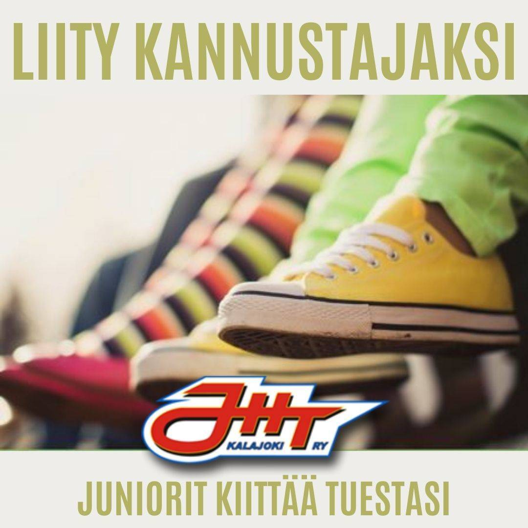 Tue JHT Junioreita! Liity kannustajaksi