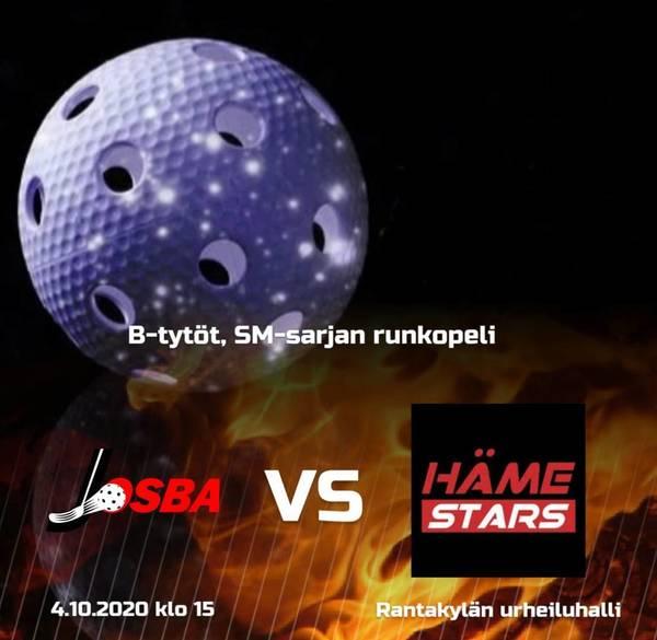 B-tytöt kohtaavat SM-sarjan runkopelissä Rantakylän urheiluhallissa 4.10. klo 15 alkaen Häme Starsin