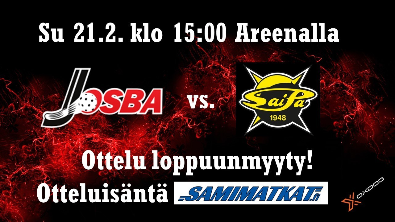 Josba A - Saipa A su 21.2. Seuraa ottelua netissä!
