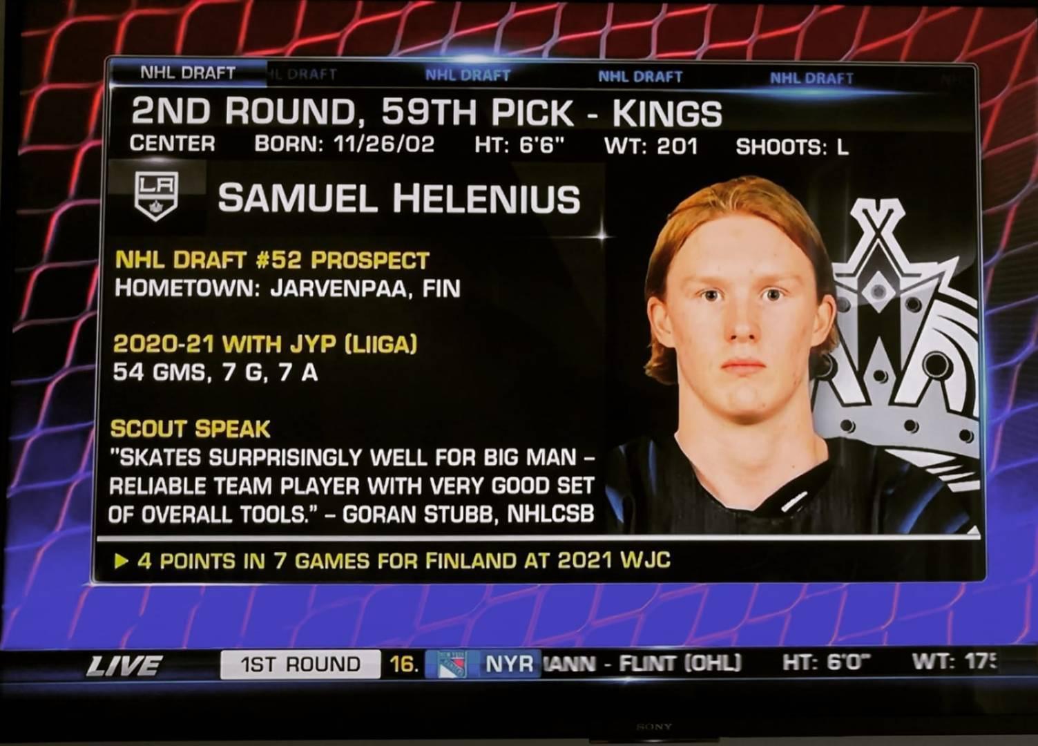 Samuel Heleniukselle ja Jaroslav Chmelarille NHL varaukset