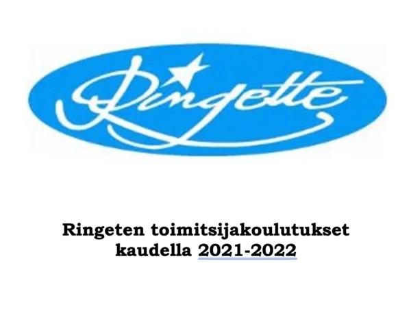 Ringeten toimitsijakoulutukset kaudella 2021-2022