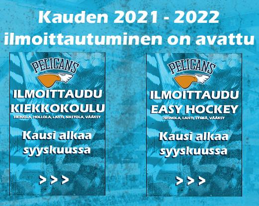 Ilmoittautuminen kauden 2021 - 2022 toimitaan on avattu