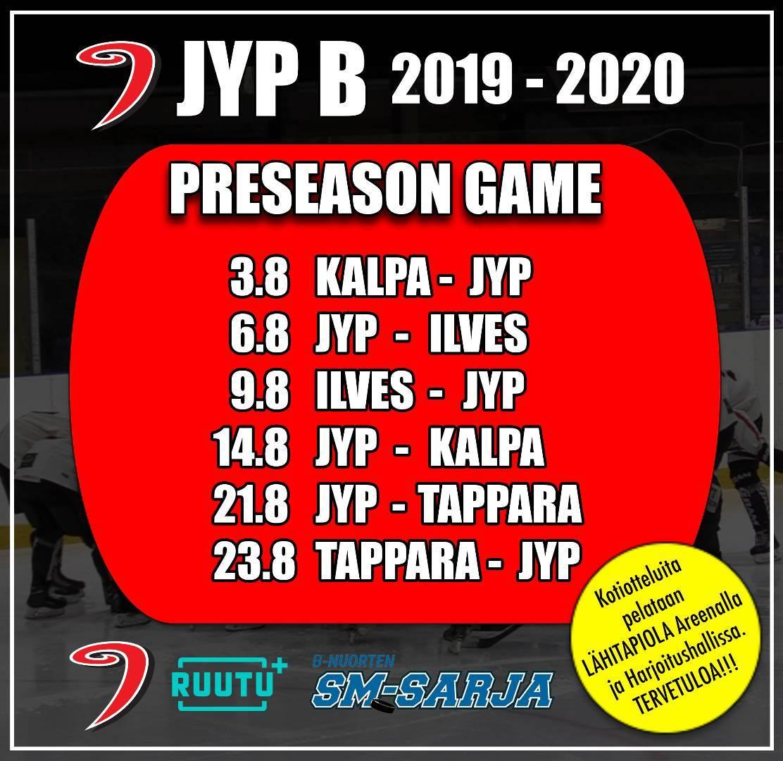Kauden 2019 - 2020 Preseason ottelut