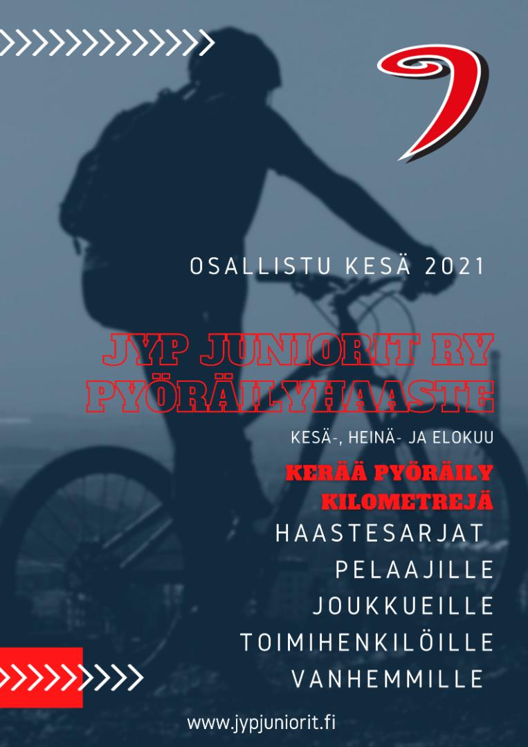 JYP Juniorit - pyöräilyhaaste kesä 2021