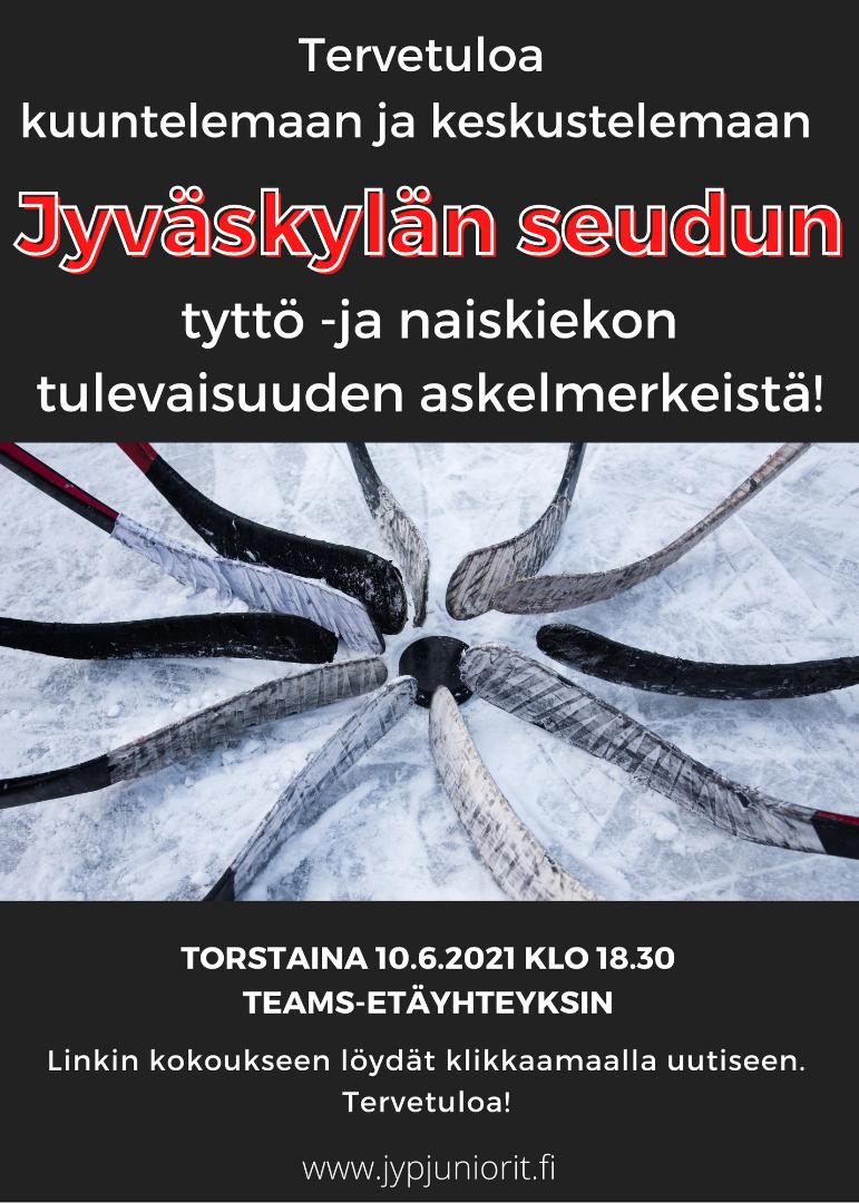 Tule keskustelemaan Jyväskylän seudun tyttö-ja naiskiekon tulevaisuuden askelmerkeistä!