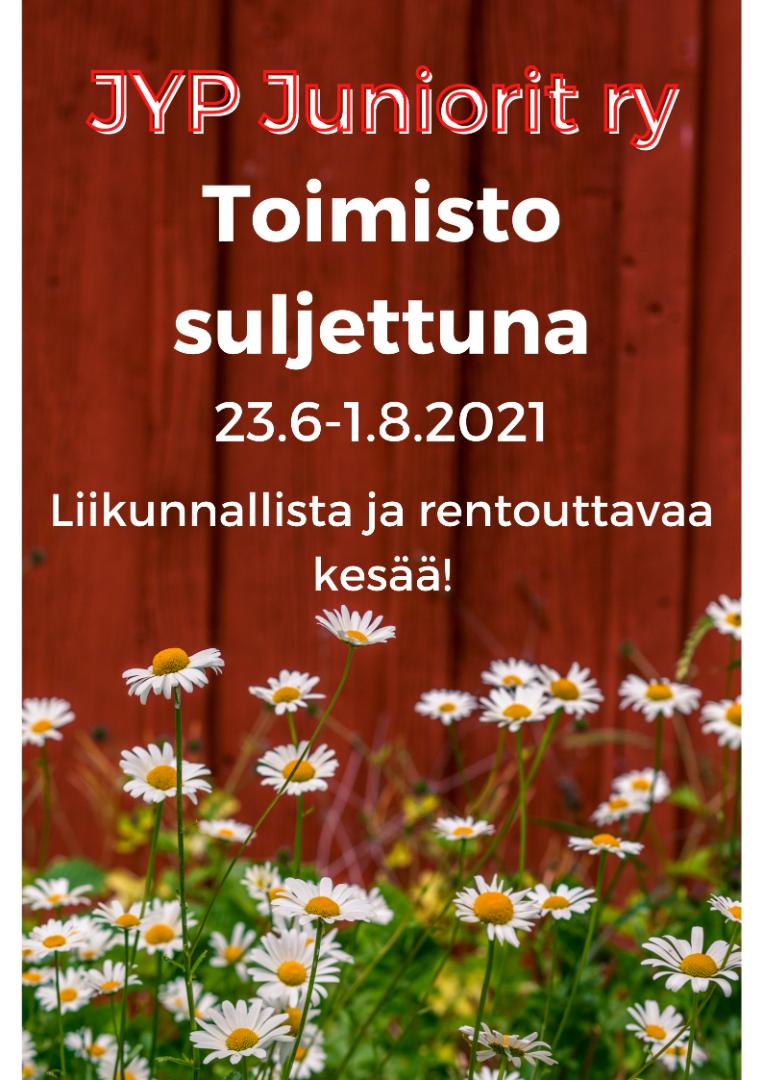 Liikunnallista ja rentouttavaa kesää! Toimisto suljettuna 23.6-1.8.2021.