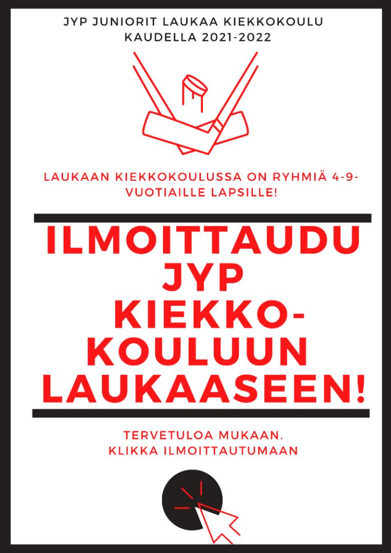 Ilmoittaudu JYP Laukaan kiekkokouluun!