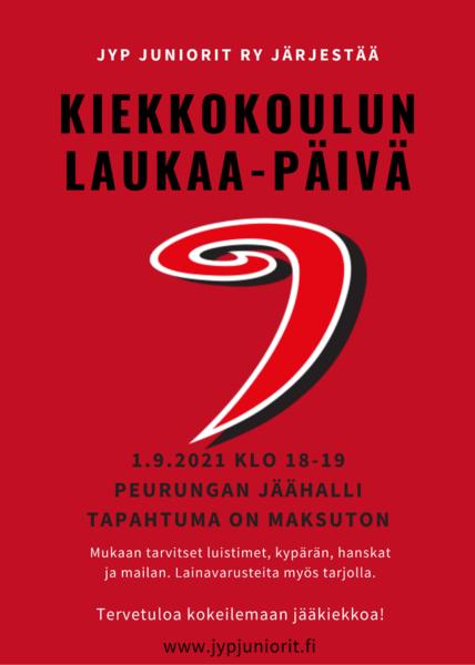 JYP kiekkokoulun Laukaa-päivä 1.9.2021 Peurungan jäähallissa
