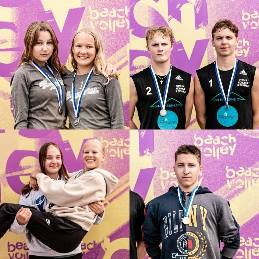 Neljä mitalia Jyväskylään beach volleyn junioreiden SM-finaaleista