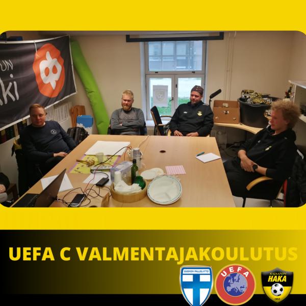 Hakan kainuulaisille juniorivalmentajille tarjoama UEFA C valmentajakoulutus käynnistyi jälleen